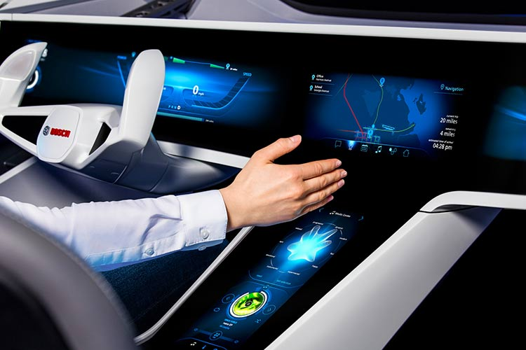 A Bosch concept car is demonstrating a new dimension of human-machine interaction. After all, highly automated driving on the freeway will do more than significantly improve safety and fuel-efficiency. From the cars of the future, drivers will also be able to communicate with others, such as friends, family, or coworkers.
