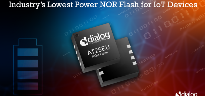 Dialog Semiconductor: Brings the Industry's Lowest Power Flash Devices to its IoT Portfolio